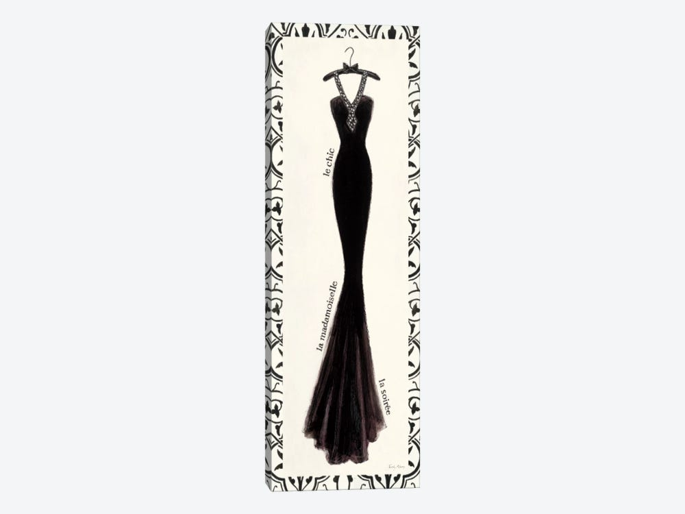Couture Noir Original III with Border by Emily Adams 1-piece Canvas Art
