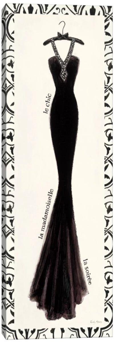 Couture Noir Original III with Border Canvas Art Print