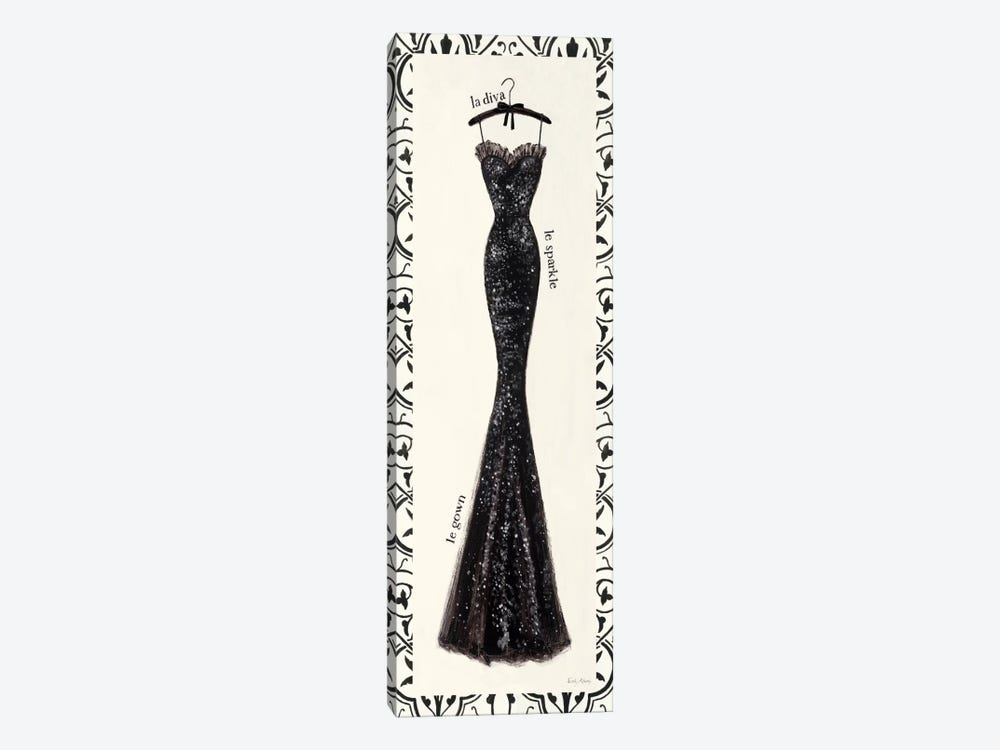 Couture Noir Original IV with Border by Emily Adams 1-piece Art Print