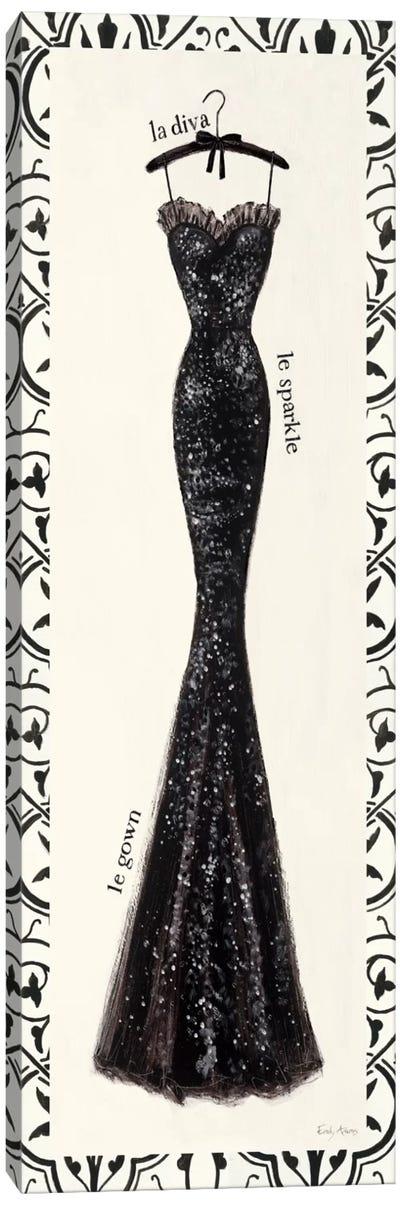 Couture Noir Original IV with Border Canvas Art Print