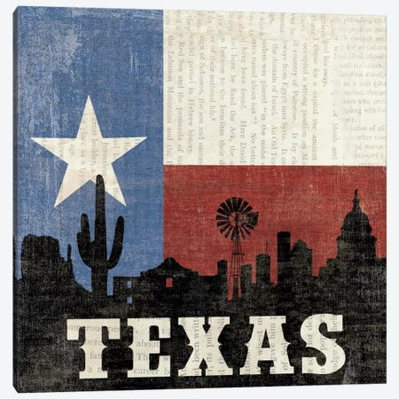 Texas Canvas Print #WAC2031} by Moira Hershey Canvas Artwork