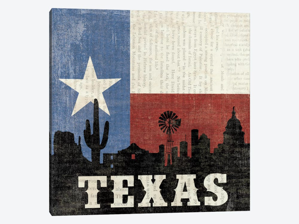 Texas by Moira Hershey 1-piece Canvas Artwork