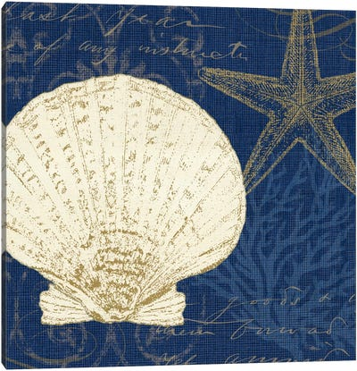 Coastal Moonlight II (Blue) Canvas Print #WAC2040