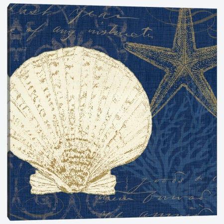 Coastal Moonlight II (Blue) Canvas Print #WAC2040} by Pela Studio Canvas Art Print