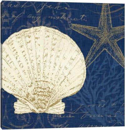 Coastal Moonlight II (Blue) Canvas Art Print