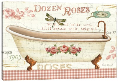 Rose Garden IV no Border Canvas Art Print