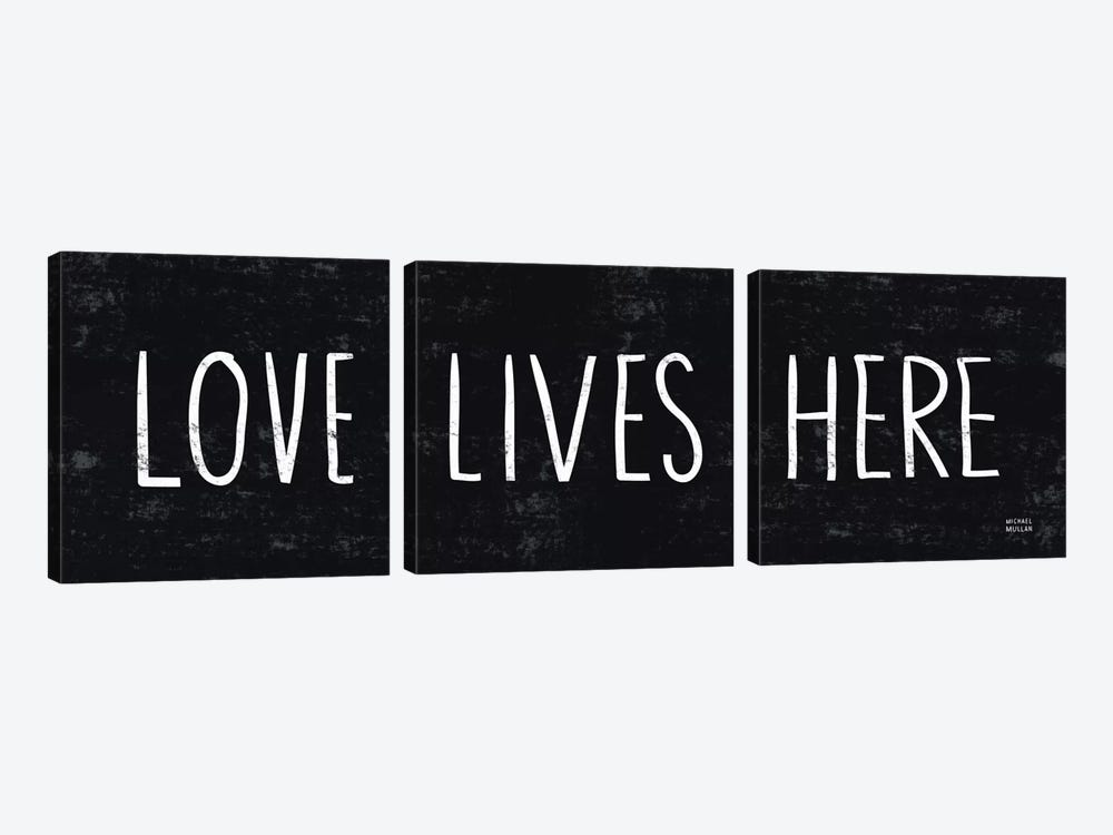 Love Lives Here by Michael Mullan 3-piece Canvas Art