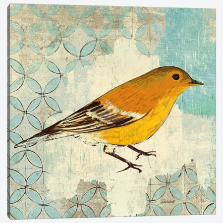 Pine Warbler Canvas Print #WAC2047} by Kathrine Lovell Canvas Art