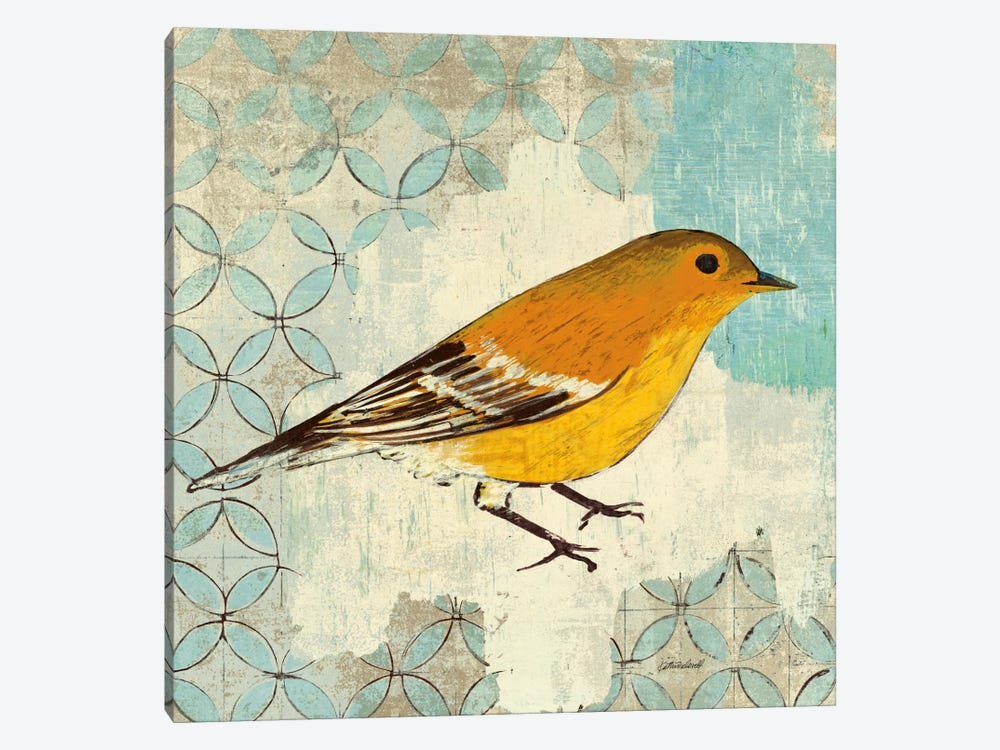 Pine Warbler by Kathrine Lovell 1-piece Canvas Print