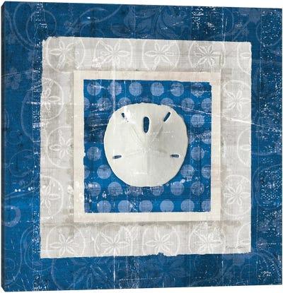 Sea Shell I on Blue Canvas Print #WAC2053