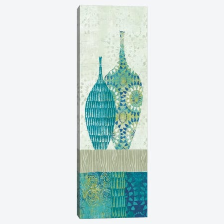 Blue Spice Stripe Panel I 3-Piece Canvas #WAC2057} by Wild Apple Portfolio Art Print