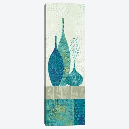 Blue Spice Stripe Panel II Canvas Print #WAC2058} by Wild Apple Portfolio Canvas Wall Art
