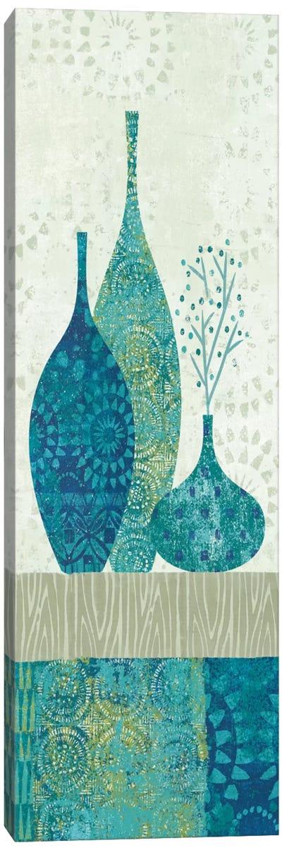 Blue Spice Stripe Panel II Canvas Art Print