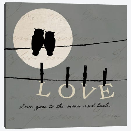 Moon Lovers I Canvas Print #WAC2069} by Pela Art Print