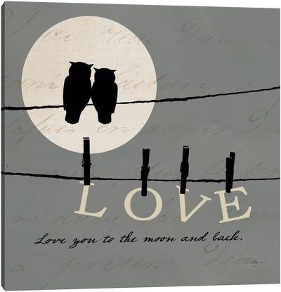 Moon Lovers I Canvas Art Print