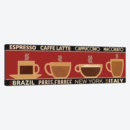 Deco Coffee Panel I Canvas Print #WAC2083} by Pela Studio Canvas Art Print