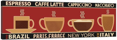 Deco Coffee Panel I Canvas Print #WAC2083