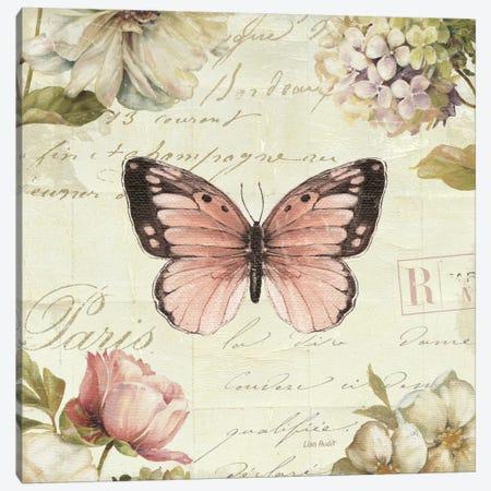 Marche de Fleurs Butterfly I Canvas Print #WAC2084} by Lisa Audit Canvas Wall Art