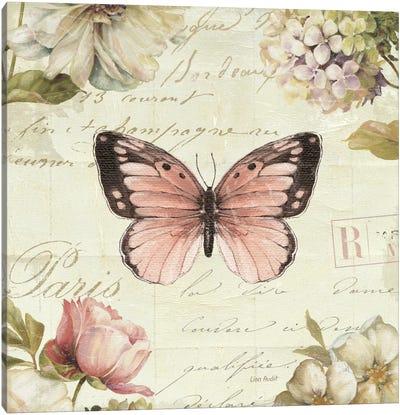 Marche de Fleurs Butterfly I Canvas Print #WAC2084