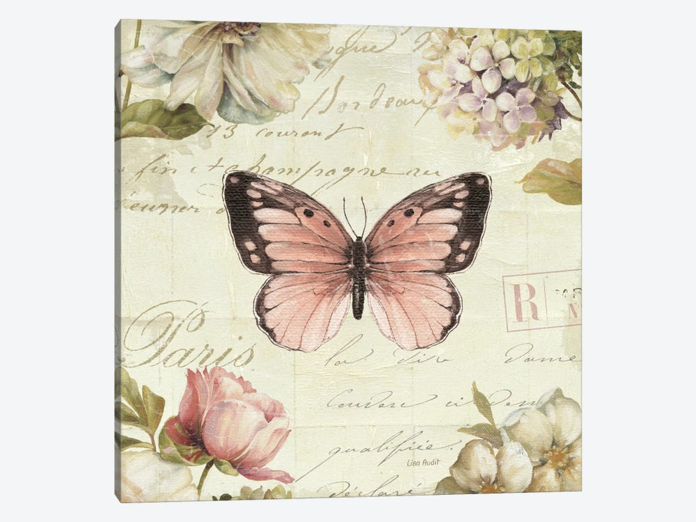 Marche de Fleurs Butterfly I 1-piece Canvas Wall Art