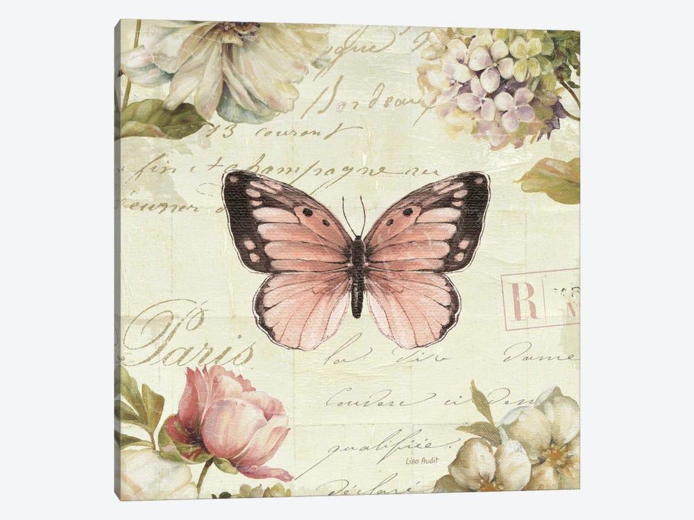 Marche de Fleurs Butterfly I by Lisa Audit 1-piece Canvas Wall Art