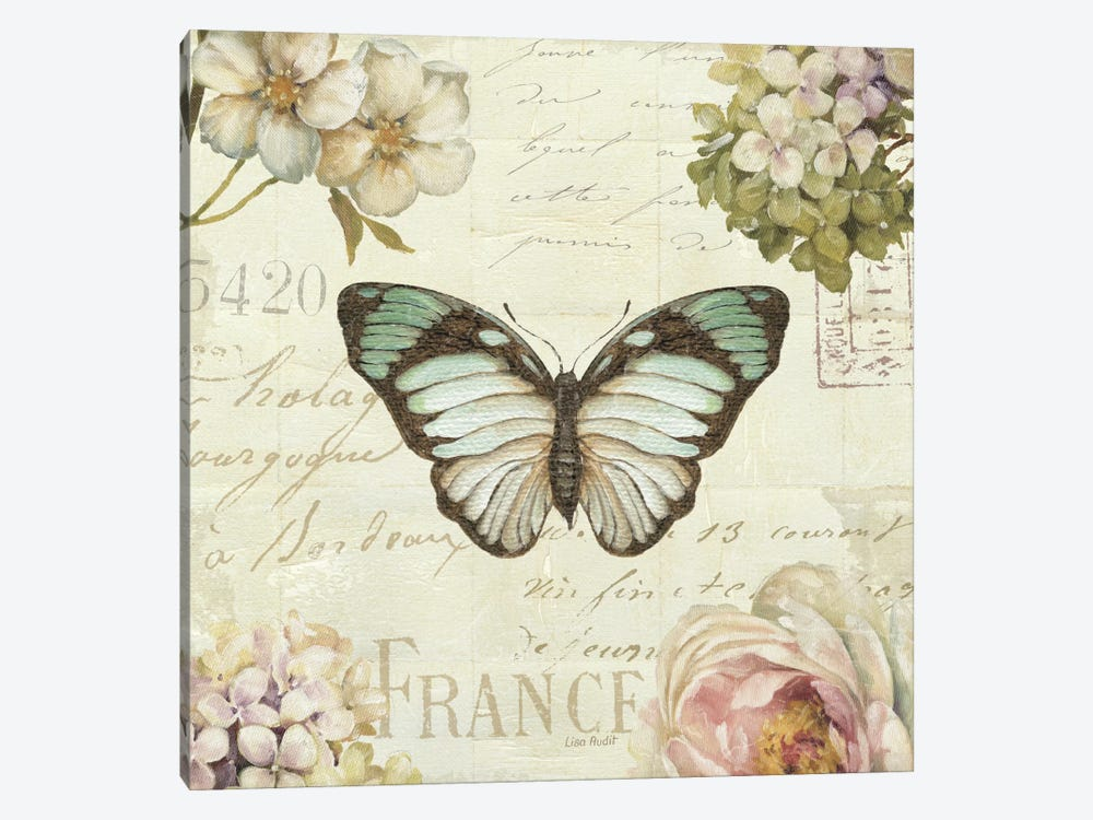 Marche de Fleurs Butterfly II by Lisa Audit 1-piece Art Print