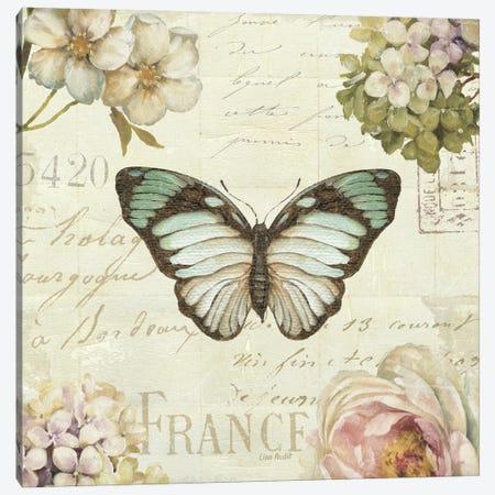 Marche de Fleurs Butterfly II Canvas Print #WAC2085} by Lisa Audit Canvas Wall Art