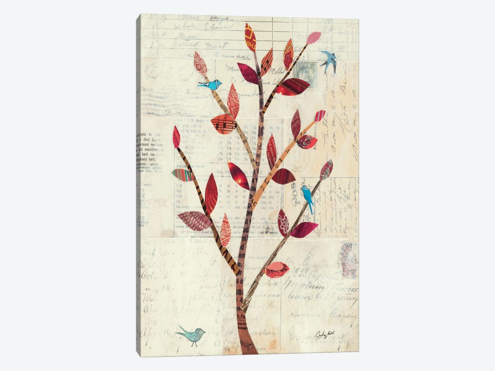 Red Leaf Tree no Border by Courtney Prahl 1-piece Canvas Print