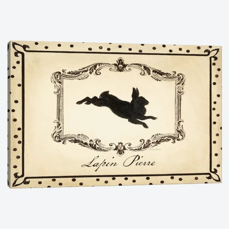 Cartouche Lapin I Canvas Print #WAC2098} by Emily Adams Canvas Artwork