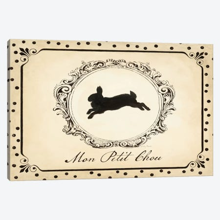 Cartouche Lapin II Canvas Print #WAC2099} by Emily Adams Canvas Art