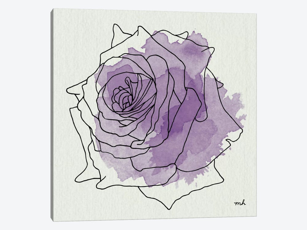 Watercolor Floral IV 1-piece Canvas Wall Art