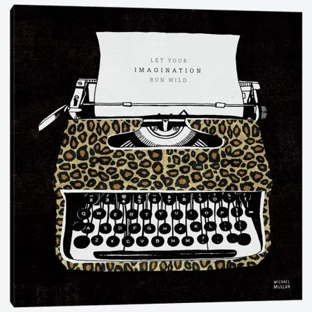 Analog Jungle Typewriter Canvas Print #WAC2106} by Michael Mullan Art Print