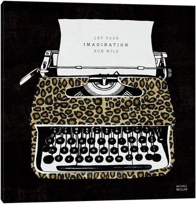 Analog Jungle Typewriter Canvas Print #WAC2106