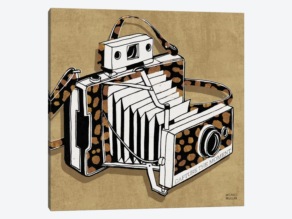Analog Jungle Camera by Michael Mullan 1-piece Canvas Wall Art