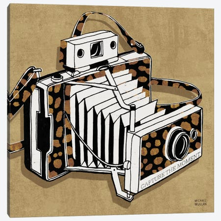 Analog Jungle Camera 3-Piece Canvas #WAC2107} by Michael Mullan Canvas Art Print