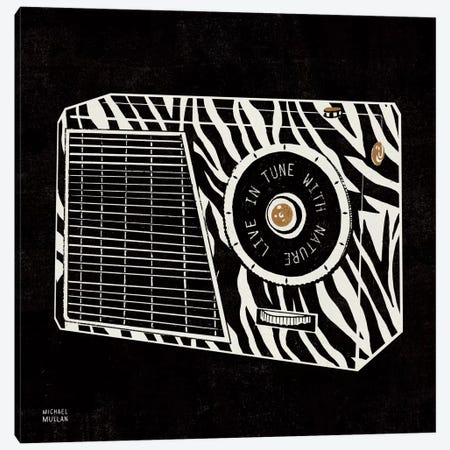 Analog Jungle Radio Canvas Print #WAC2109} by Michael Mullan Canvas Art