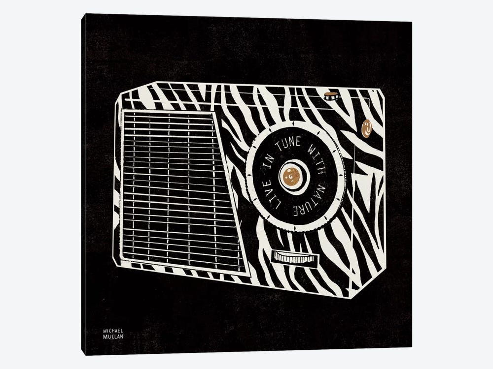 Analog Jungle Radio by Michael Mullan 1-piece Canvas Wall Art