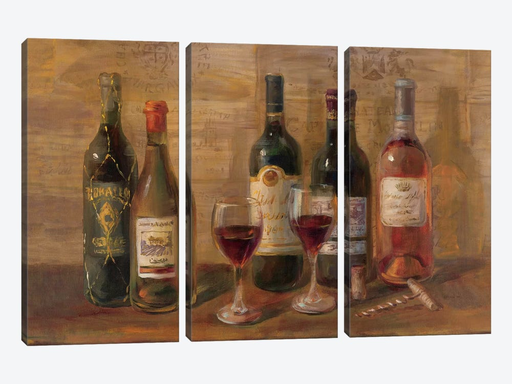 Wine Tasting by Danhui Nai 3-piece Canvas Wall Art