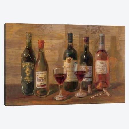Wine Tasting Canvas Print #WAC210} by Danhui Nai Canvas Art Print