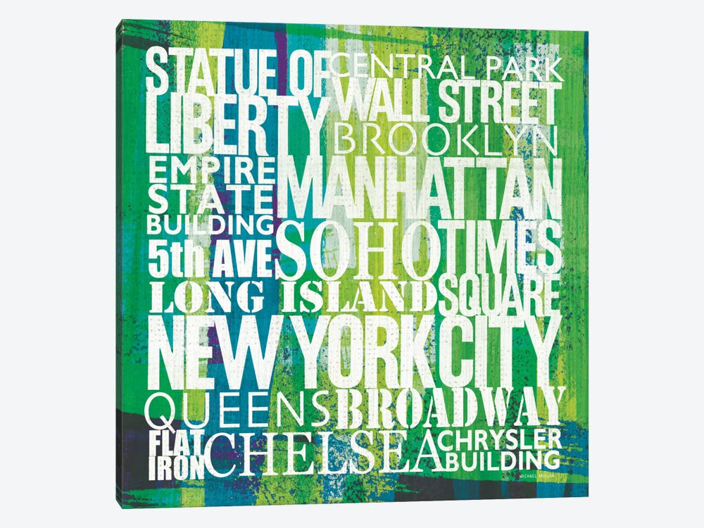 New York City Life Patterns I by Michael Mullan 1-piece Canvas Art Print