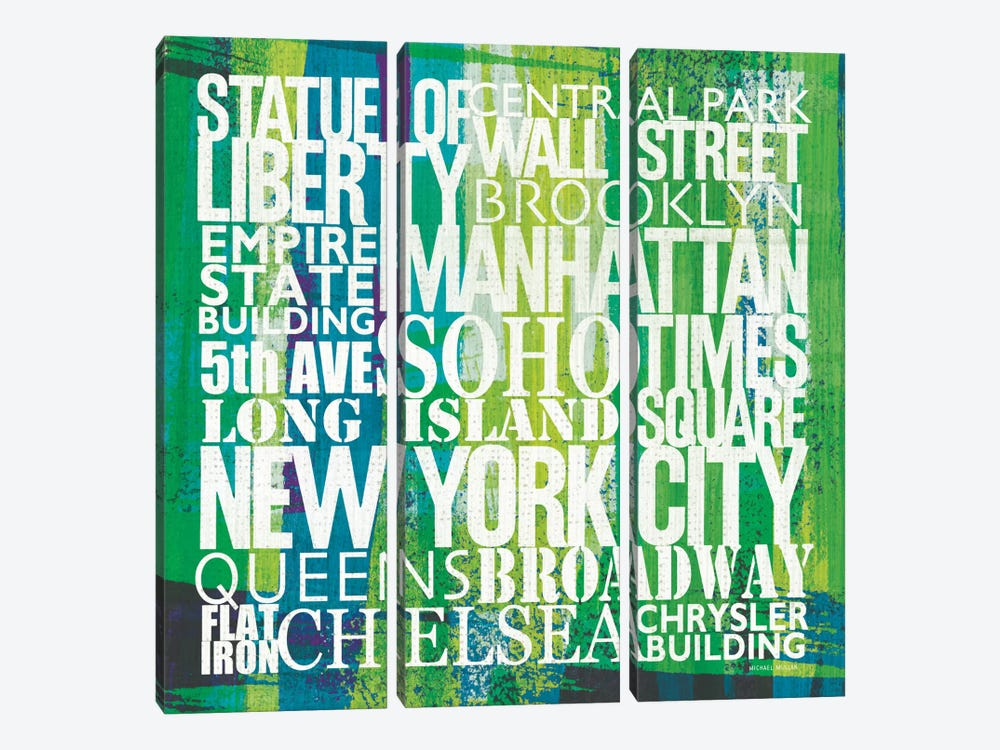 New York City Life Patterns I by Michael Mullan 3-piece Art Print