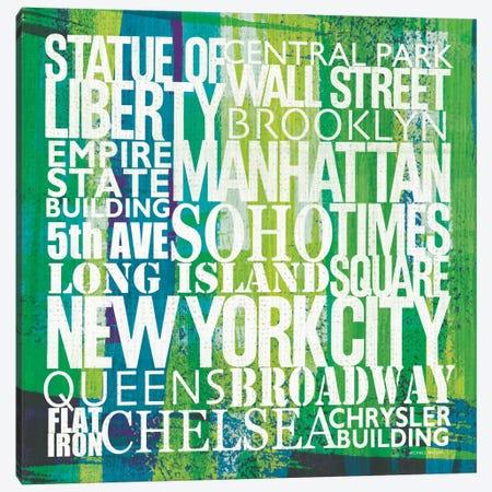 New York City Life Patterns I Canvas Print #WAC2111} by Michael Mullan Canvas Art Print