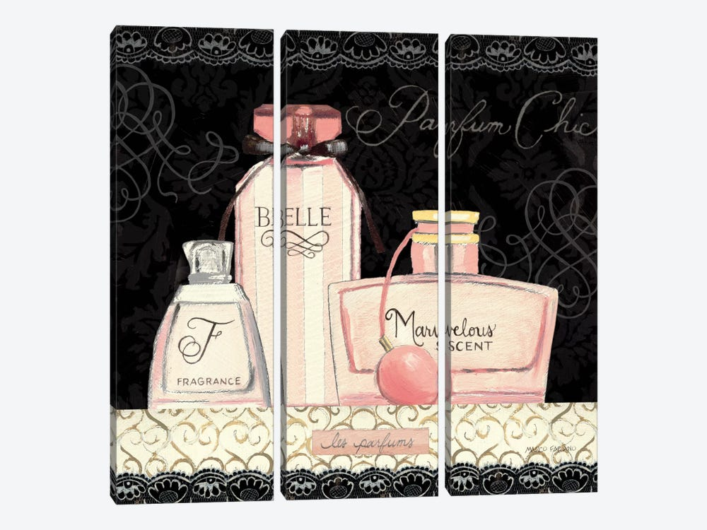 Les Parfum II by Marco Fabiano 3-piece Canvas Artwork