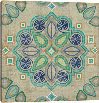 Santorini Tile III  Canvas Art Print