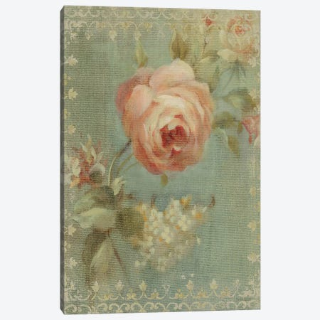 Rose on Sage Canvas Print #WAC211} by Danhui Nai Canvas Print