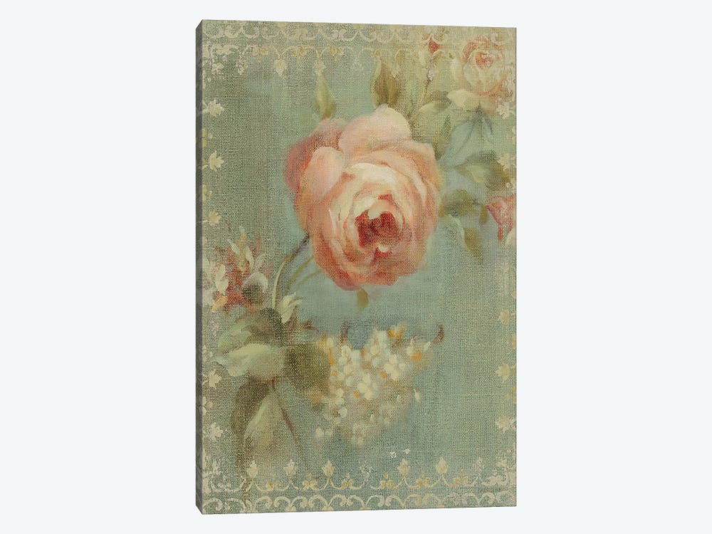 Rose on Sage by Danhui Nai 1-piece Canvas Art Print