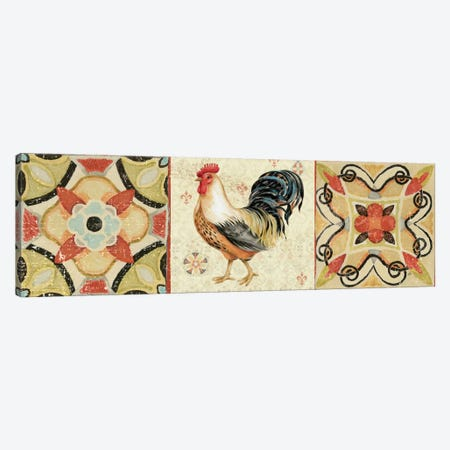 Bohemian Rooster Panel I  Canvas Print #WAC2120} by Daphne Brissonnet Canvas Artwork