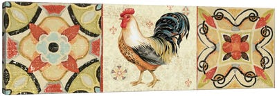 Bohemian Rooster Panel I  Canvas Art Print