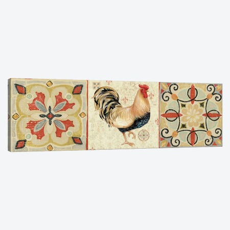 Bohemian Rooster Panel II  Canvas Print #WAC2121} by Daphne Brissonnet Canvas Art