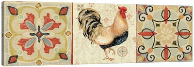 Bohemian Rooster Panel II  Canvas Art Print
